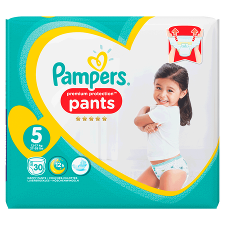 Pampers Premium Protection Pants Gr. 5 (12-17kg) Value Pack