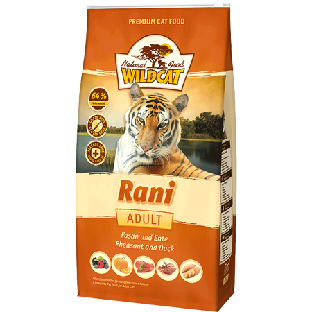 Wildcat Rani mit Fasan Ente