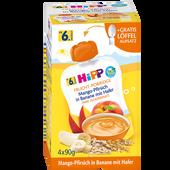 Bild: HiPP Frucht-Porridge Mango-Pfirsich in Banane mit Hafer
