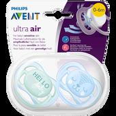 Bild: PHILIPS AVENT Schnuller Ultra Air, 0-6 Monate, Hello/Bär türkis/blau