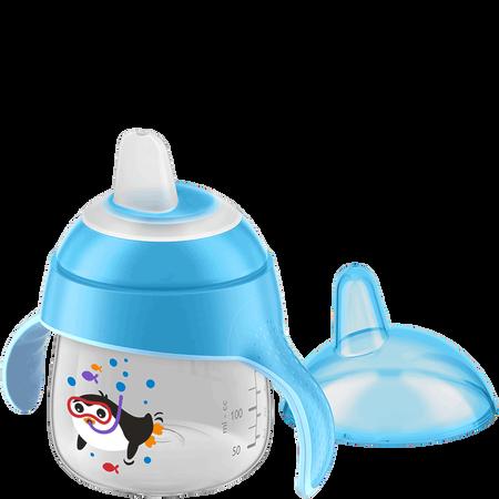 PHILIPS AVENT Schnabelbecher mit Lerngriff, 200ml, 6 Monate+, weich, blau