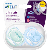 Bild: PHILIPS AVENT Schnuller Ultra Air, 0-6 Monate, Hello/Bär türkis/blau