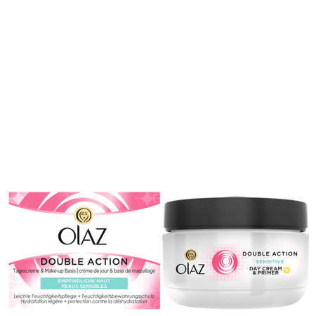 Olaz Essentials Double Action Tagescreme empfindliche Haut