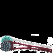 Bild: hydas Rückencremer Bordeaux Rot, Handgriff teilbar