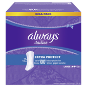 Bild: always dailies Fresh & Protect Slipeinlagen extra protect Giga Pack