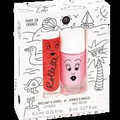 Bild: nailmatic Kinder Set -  Nagellack auf Wasserbasis & Lipgloss Holidays