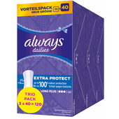 Bild: always dailies Slipeinlagen Extra Protect Long Plus Trio Pack