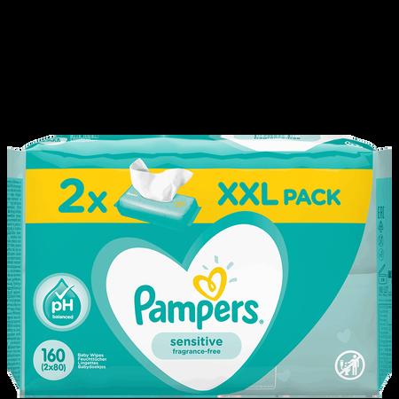 Pampers Feuchte Tücher Sensitive 2 Packungen