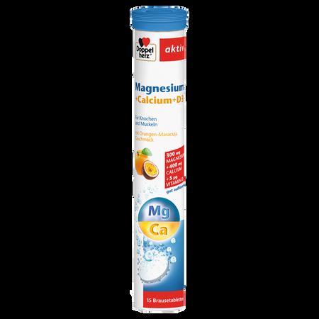 DOPPELHERZ Magnesium + Calcium + D3 Brausetabletten