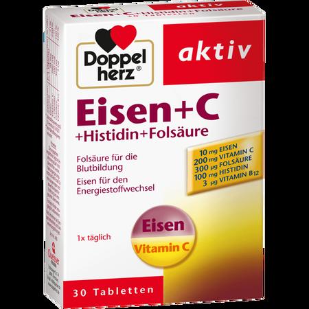 DOPPELHERZ Eisen + C Tabletten