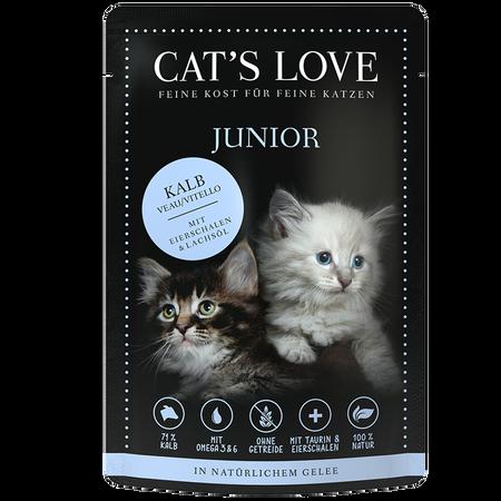 CAT´S LOVE Junior Kalb Katzenfutter