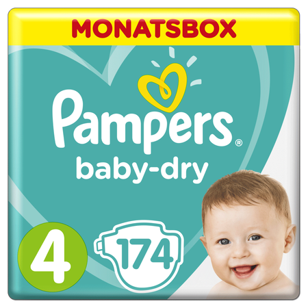 Pampers Baby Dry Gr.4 Maxi 9-14kg MonatsBox