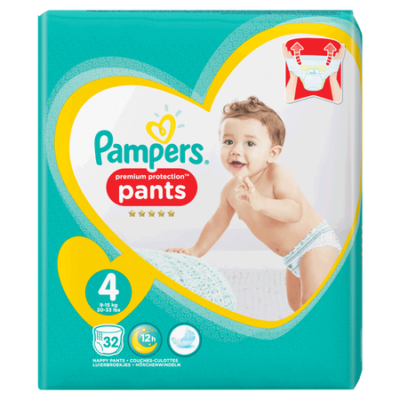 Pampers Premium Protection Pants Gr. 4 (9-15kg) Value Pack