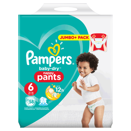 Pampers Baby-Dry Pants Gr. 6 (15+kg) Jumbo+ Pack