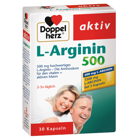 DOPPELHERZ L-Arginin 500 Kapseln