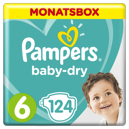 Pampers Baby Dry Gr.6 Extra Large 13-18kg MonatsBox