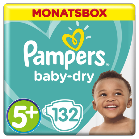 Pampers Baby Dry Gr.5+ Junior Plus 12-17kg MonatsBox