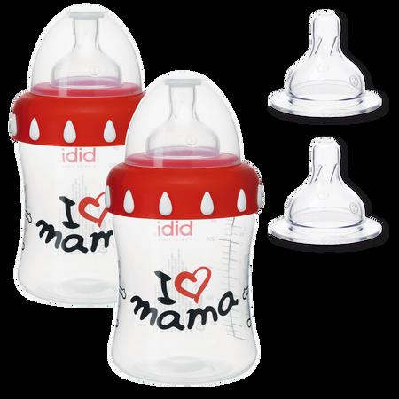 Bibi Mama-Weithalsflaschenset 4-teilig