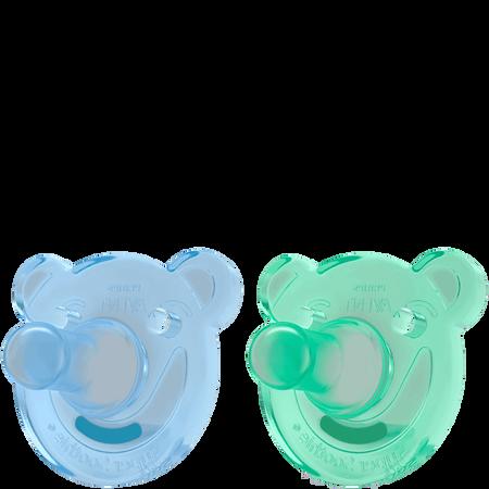 PHILIPS AVENT Schnuller Soothie, 3 Monate+, blau/grün