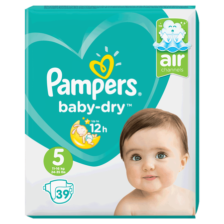Pampers Baby-Dry Gr. 5 (11-16kg) Value Pack
