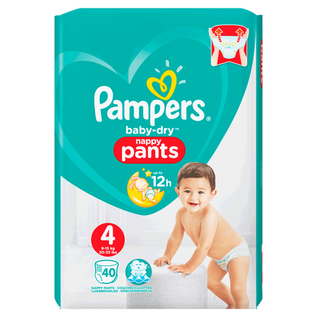 Pampers Baby-Dry Pants Gr. 4 (9-15kg) Value Pack