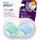 Bild: PHILIPS AVENT Schnuller Ultra Air, 6-18 Monate, türkis/blau