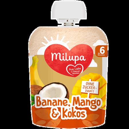 Milupa Quetschbeutel Banane, Mango & Kokos