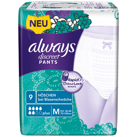always discreet Pants plus medium