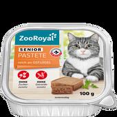 Bild: ZooRoyal Senior Pastete Geflügel Katzenfutter