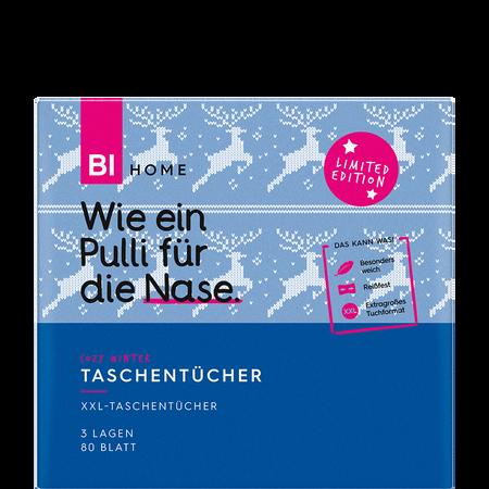 BI HOME Cozy Winter Taschentücher XXL Würfelbox