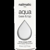 Bild: nailmatic Nagellack auf Wasserbasis Base & Topcoat