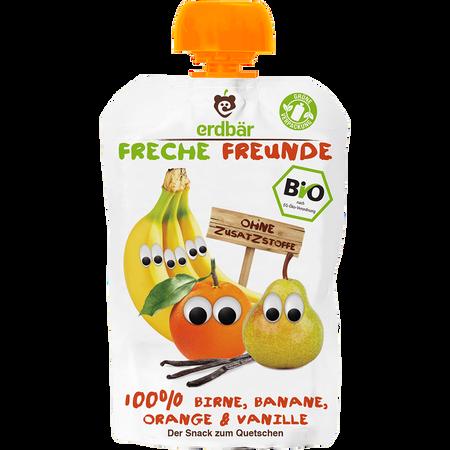 Freche Freunde Quetschbeutel Birne, Banane, Orange, Vanille