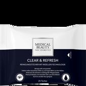 Bild: MEDICAL BEAUTY for Cosmetics Clear & Refresh Gesichts Reinigungstücher