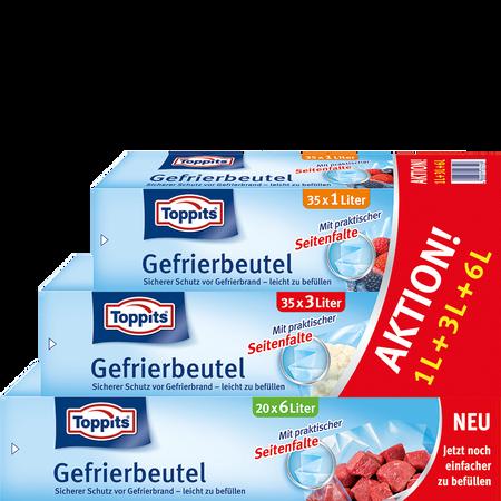 Toppits Gefrierbeutel Aktion 1L+3L+6L