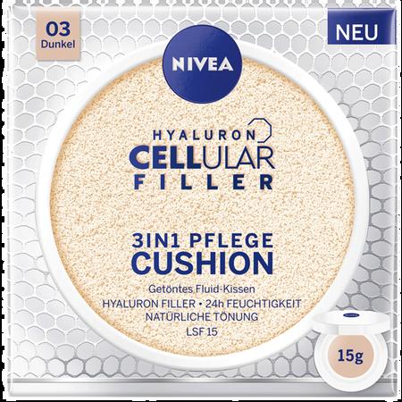 Bild: NIVEA Hyaluron Cellular Filler 3in1 Pflege Cushion dunkel NIVEA Hyaluron Cellular Filler 3in1 Pflege Cushion