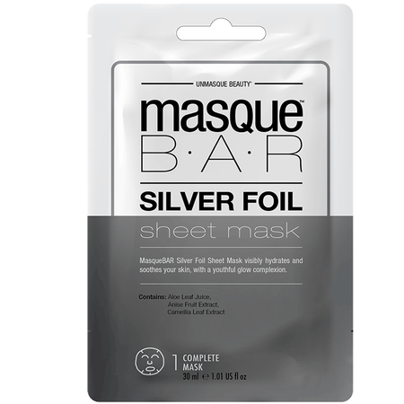 masque BAR Silver Foil Sheet Mask