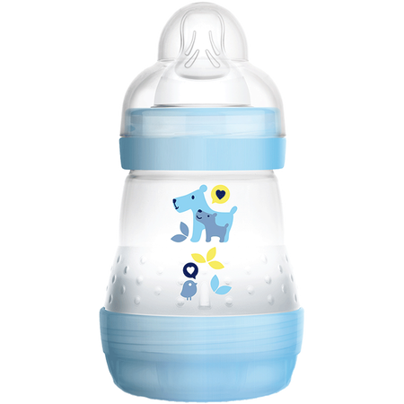MAM Easy Start Anti-Colic 160ml Time for Love - Babyflasche Blau