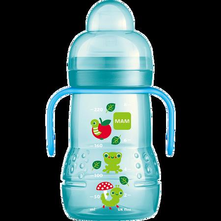 MAM Trainer+ 220ml - Babyflasche und Becher Blau
