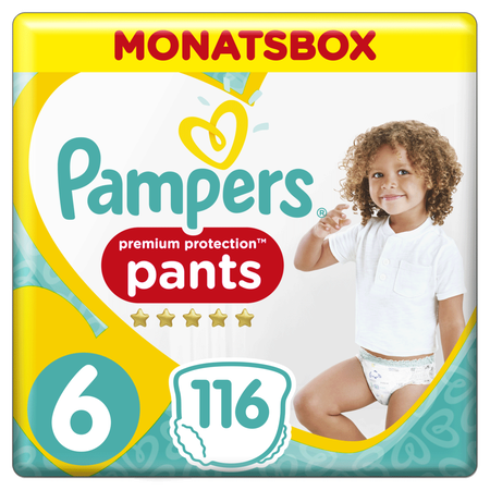 Pampers Premium Protection Pants Gr.6 Extra Large 15+kg Monatsbox