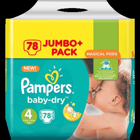 Pampers Baby-Dry Gr. 4+ (10-15kg) Jumbo+ Pack