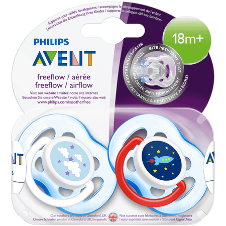 PHILIPS AVENT Schnuller Freeflow, 18 Monate+, blau