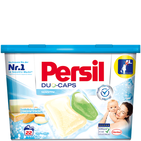 Bild: Persil Duo Caps Sensitiv  Persil Duo Caps Sensitiv