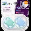 Bild: PHILIPS AVENT Schnuller Ultra Air, 6-18 Monate, türkis/blau