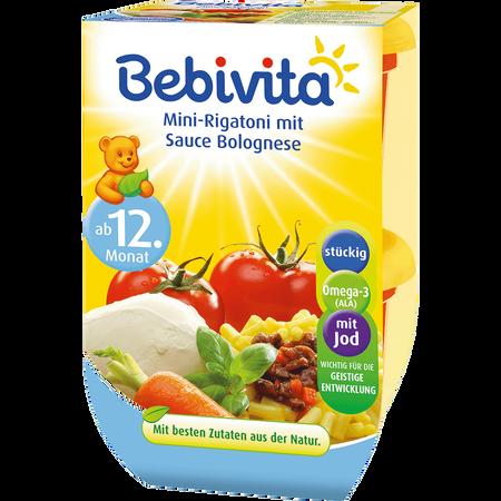 Bebivita Mini-Rigatoni mit Sauce Bolognese