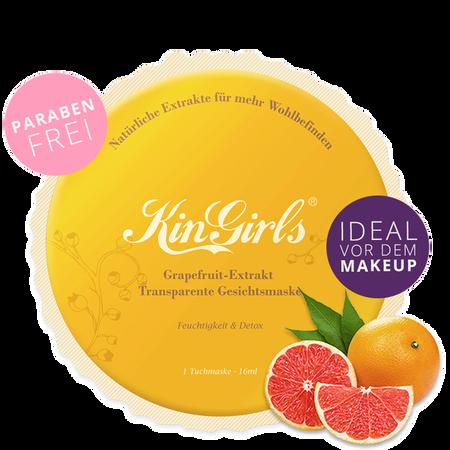 KinGirls Macaron Grapefruit-Extrakt Transparente Gesichtsmaske