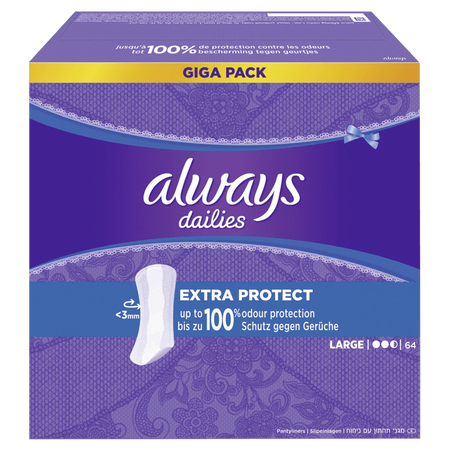 always dailies Fresh & Protect Slipeinlagen extra protect Giga Pack
