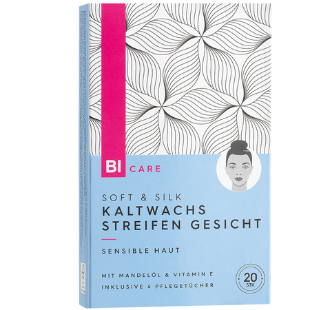 BI CARE Soft & Silk Kaltwachsstreifen Gesicht