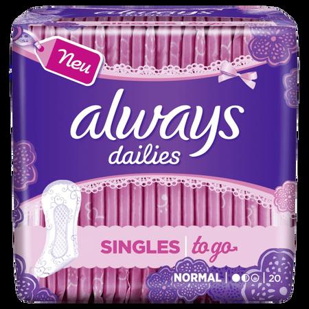 always dailies Slipeinlagen Singles to go