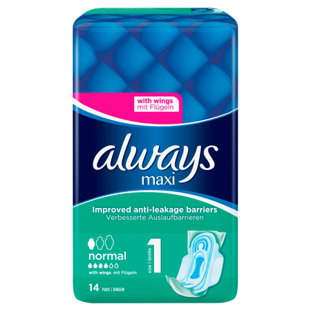 always maxi Binden Protection & Comfort normal mit Flügeln