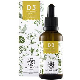 Bild: NATURE LOVE Vitamin D3 Tropfen